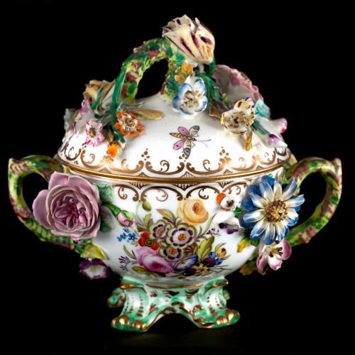 Rockingham Lidded China Bowl